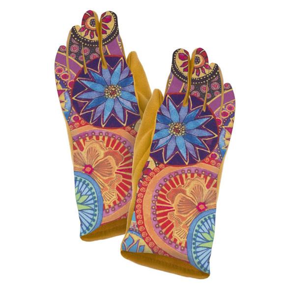 Laurel Burch - Circle Floral Suede Glove