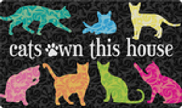"Cats Own This House Floor Mat - 18""x 30""- 800428"