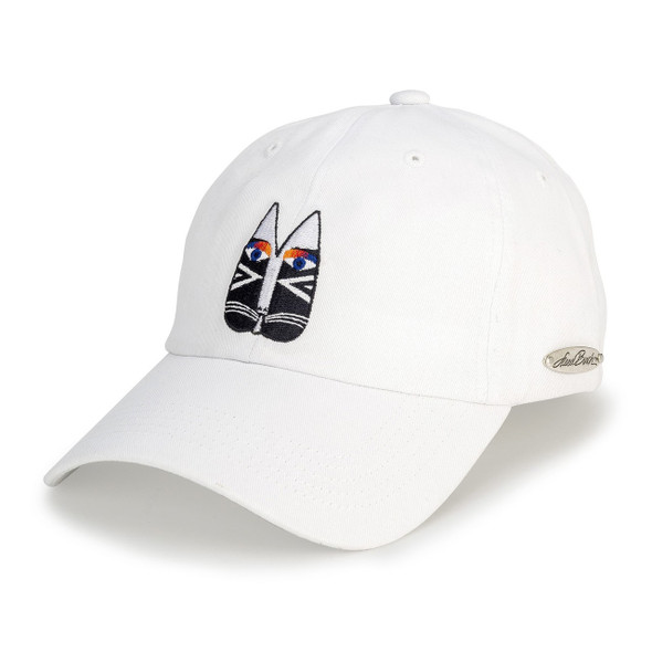 Laurel Burch - Black/White Embroidered Ball Cap