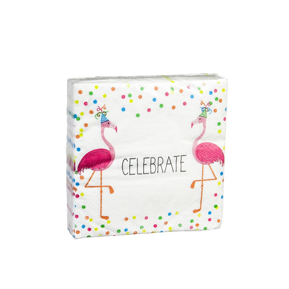 Flamingo Cocktail Napkin,Have A Fabulous Birthday Z4NC6689