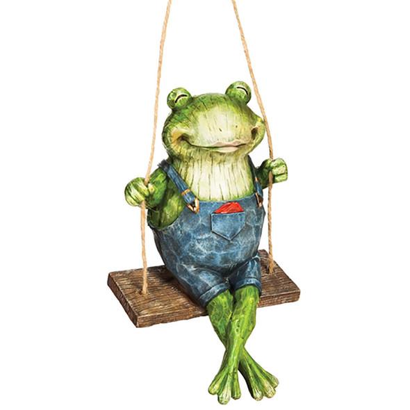 Swinging Frog - Garden Figurine