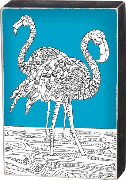 Flamingo Family Colorable Wall Art - Color a Sign - 33036