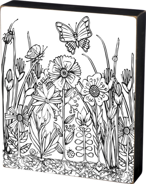 Garden Scene - Color a Sign - Large Photo