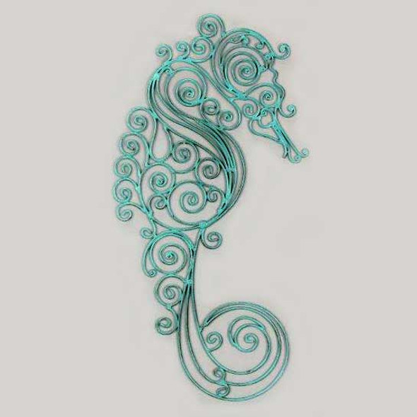 Seahorse Decorative Metal Wall Decor 22943