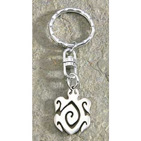 Pewter Sea Turtle Key Ring Chain 9874593000