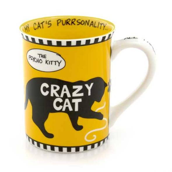 Crazy Psycho Kitty Cat Stoneware Mug 4041712