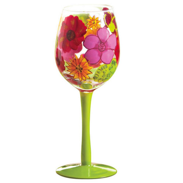 Floral Splash Stemware Glass 3CWG3371-G