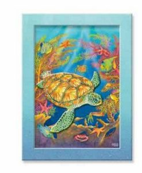 "Sea Turtle ""Turtle Reef"" Layered Magnet - 828-04"