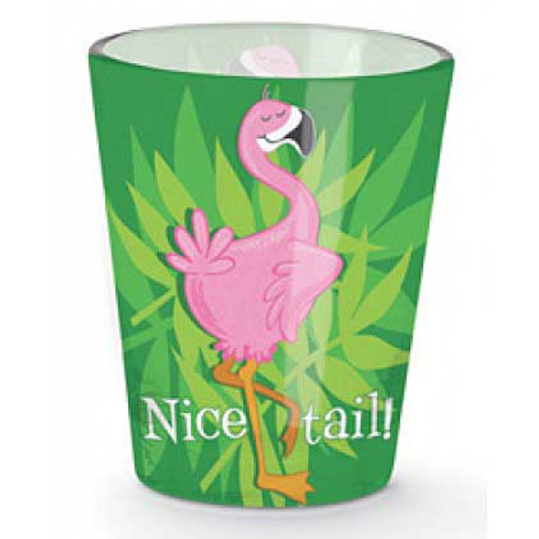 Nice Tail Pink Flamingo Shot Glass 849-90