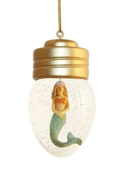 Mermaid Christmas Ornament Snow Globe Style - 856-02