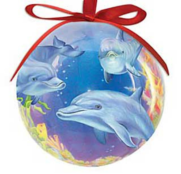 Ornament Ball Dolphin Cove 857-00