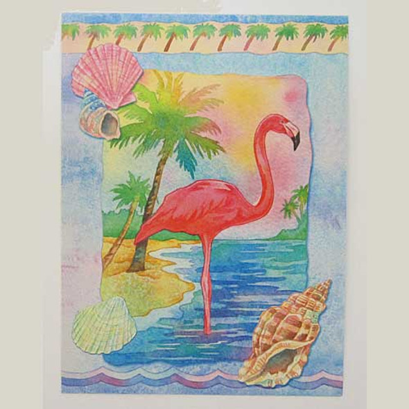 Pink Flamingo Greeting Card BKG13203