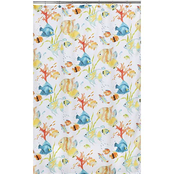 Rainbow Fish Shower Curtain S1073MULT