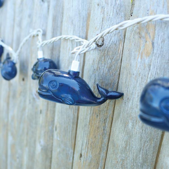 Tropical 10 Whale String Lights 8' Long Strand 20267
