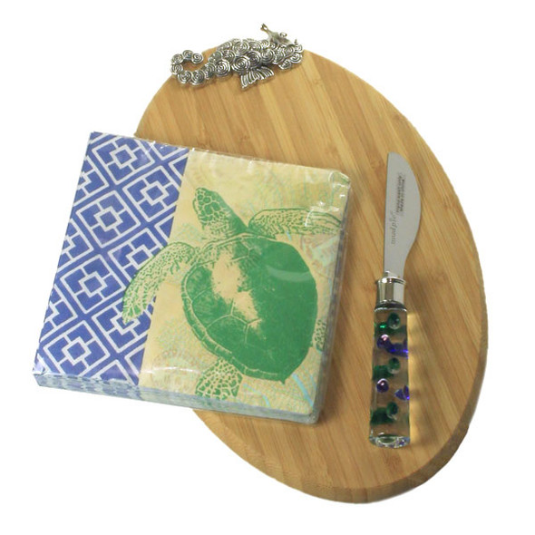Seahorse Metal Bamboo Cutting Board 3 Piece Set 108372SH