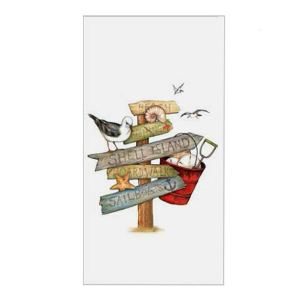 Beach Signs Flour Sack Towel R2933