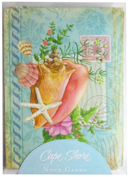Includes Five Shells Note Cards