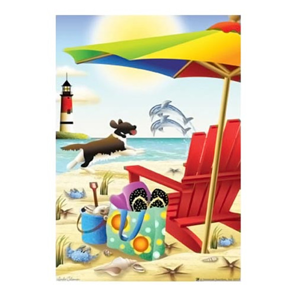 Beach Fun in the Sun Garden Flag - JFL153
