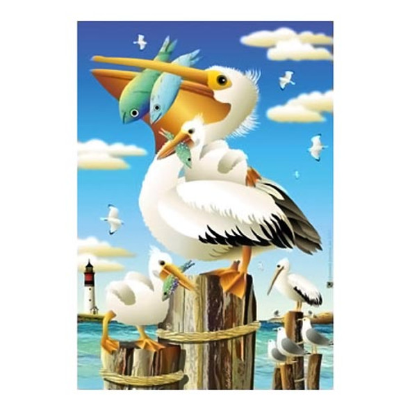 Beach Paradise Pelican House Size Flag - JFL155L