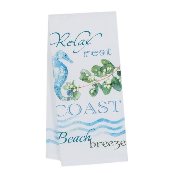 Coast Relax Beach Cotton Tea Towel R3078-C