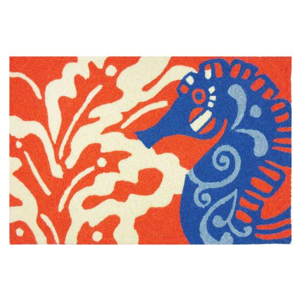Seahorse on Coral - Floor Rug - JB-JB121