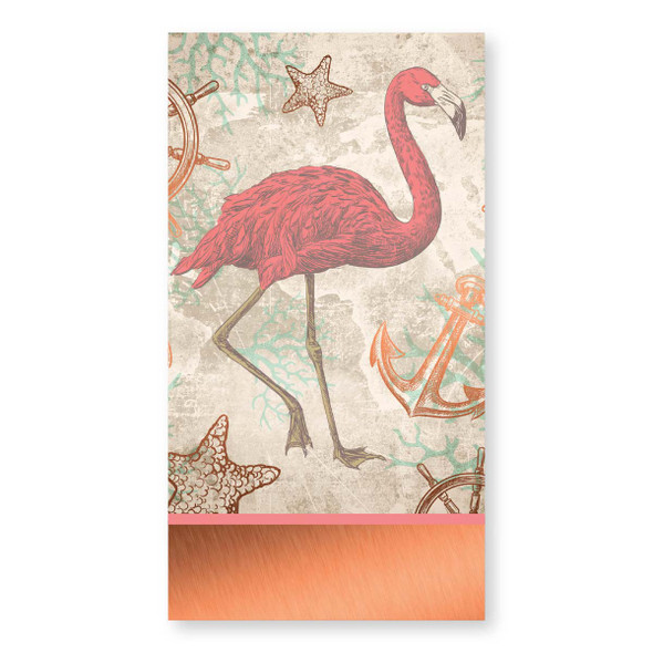 Pink Flamingo Paper Guest Towel Napkins Pk of 16 by Lolita - TW8-1687