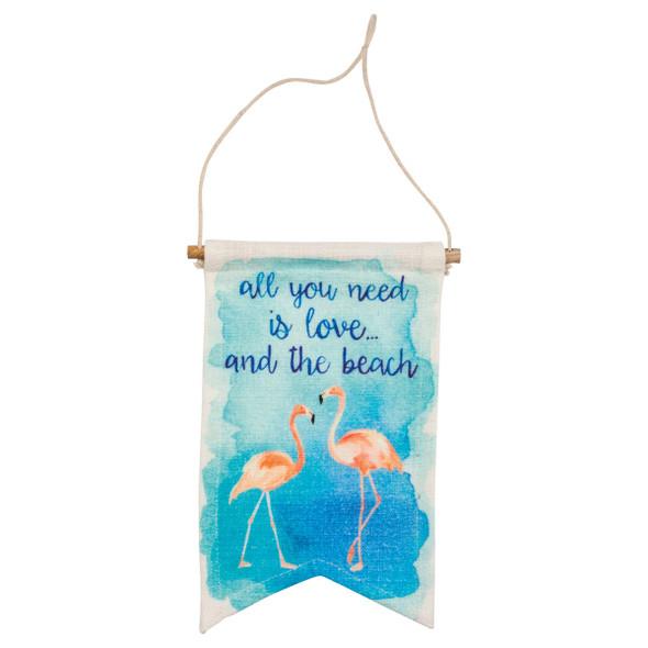 """Flamingo Beach Love Banner 6"""" x 10"""" - 30576"""
