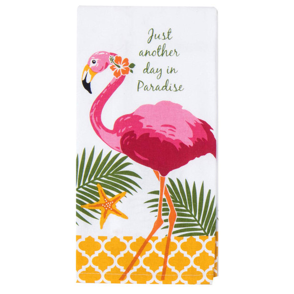 Paradise Flamingo Cotton Tea Towel - R402