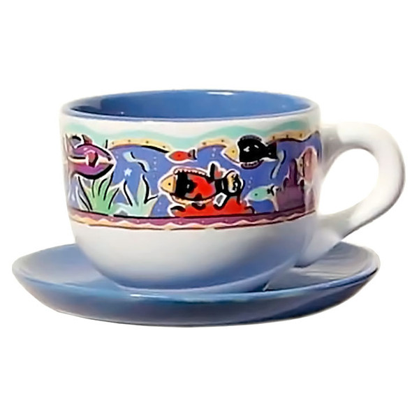 Latte Mug Sauce Tropical Fish Ceramic 843-85