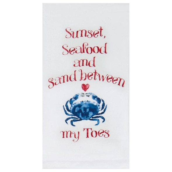 Seafood Kitchen Sunset Flour Sack Towel R3293