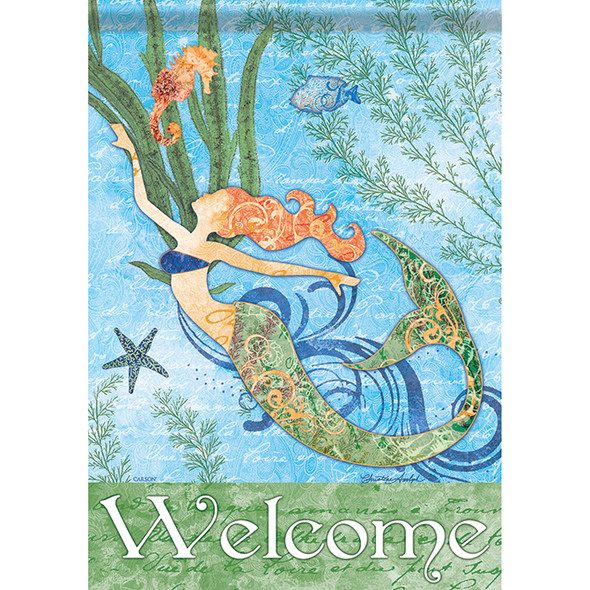 "Mermaid House Flag - 40""x 28"" - 48789"