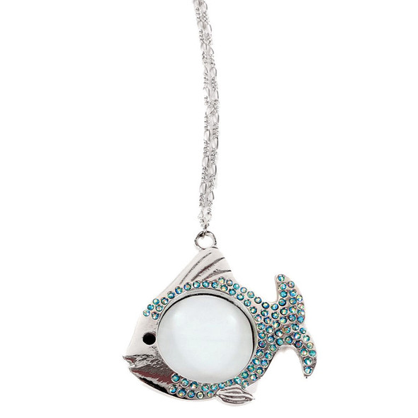 Tropical Angel Fish Magnifying Pendant Necklace