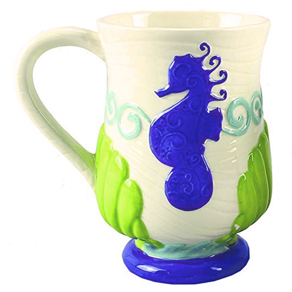 Seahorse Hand Painted Coffee Mug