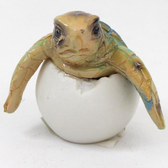 Sea Turtle Egg Emerging (blue) - WW-355B