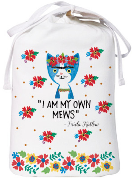 "Cat Theme Sleep Shirt Pajamas ""Frida Katlow - I Am My Own Mews"" 343OT"