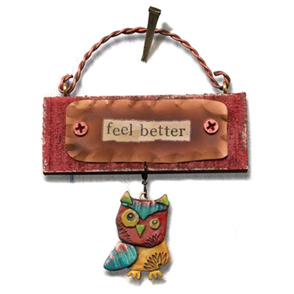 Feel Better Mini Owl Plaque