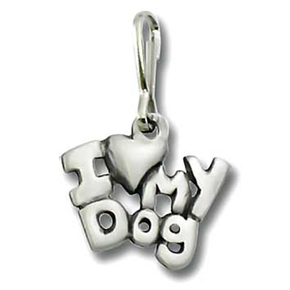 Dog Zipper Pull I Love My Dog 2034ZP