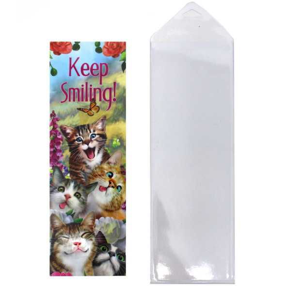 Cat Theme Bookmarker - Keep Smiling - 54259