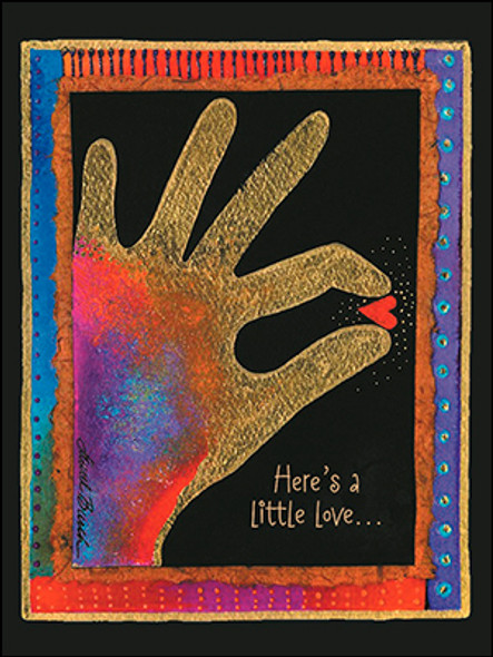 Laurel Burch Friendship Card - Heres a little Love - 20753