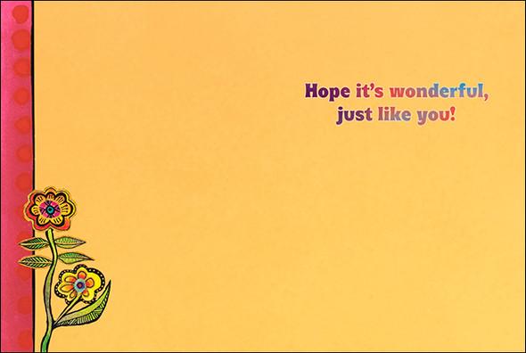 Laurel Burch Birthday Card - Hope its Wonderful - 20712