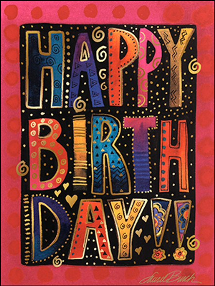 Laurel Burch Birthday Card - Hope its Wonderful - 20712