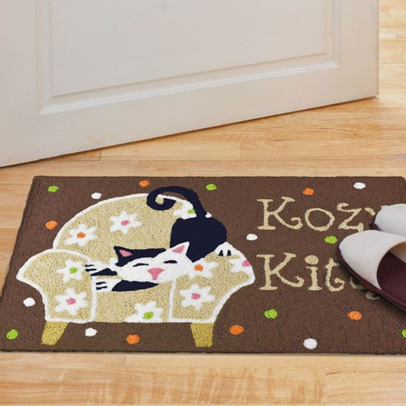 Kozy Kitty Sitting Cozy - 21 x 33 - Washable Floor Rug JB-VHT001