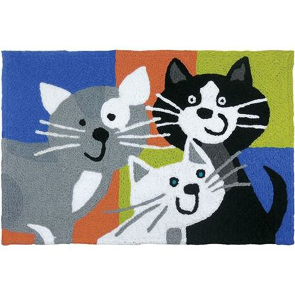 Kitty Cat Klatch - 21 x 33 - Washable Floor Rug JB-SFG026