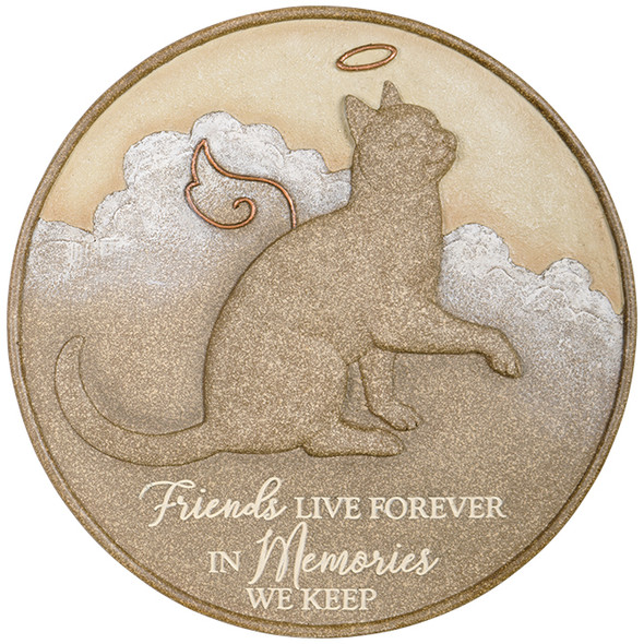"""Cat Live Forever"" Memorial Stepping Stone 10033"