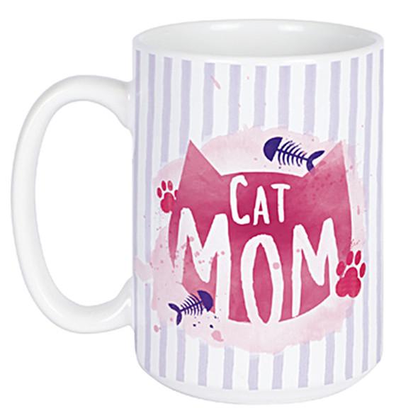 Cat Mom Mug - Ceramic Coffee 14oz Mug - 22671