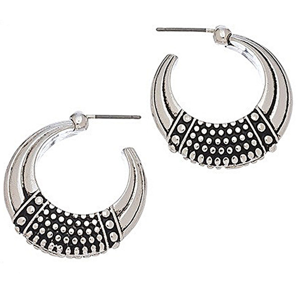 The Egyptian Dot Hoop Earrings - 9277-57A