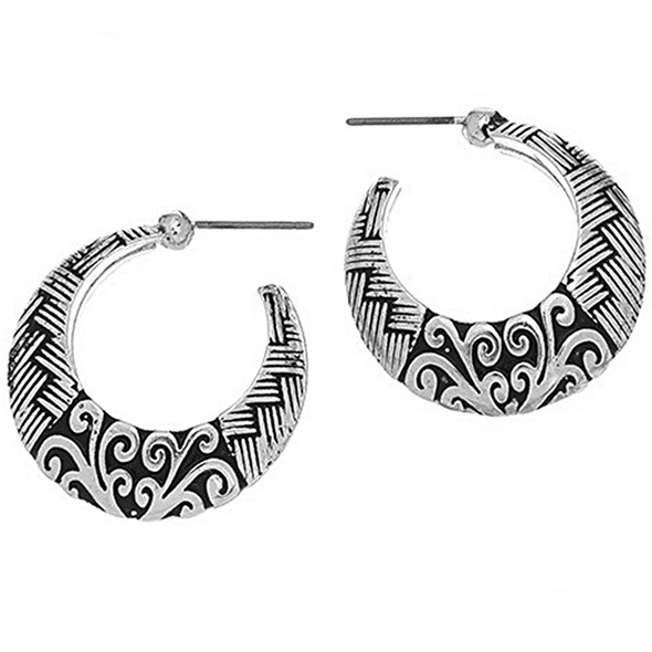 The Weave Hoop Earrings - 9277-57C