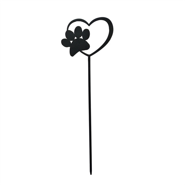 Small Paw Print Pet Memorial 7-inch Garden Stake - ZSK47D