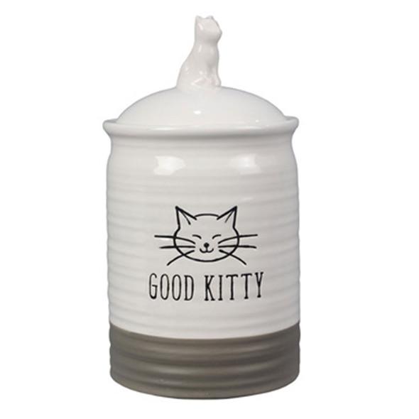Good Kitty Ceramic Cat Treat Jar with Ceramic Lid 19247