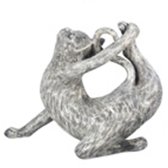 Yoga Cat Figurine - Half Bow  Pose - 18732C